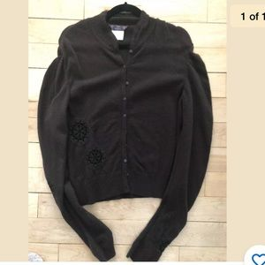 John Galliano Embroidered Sweater Sz S